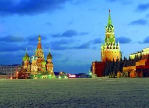 Roter Platz, Basilius-Kathedrale und Kreml in Moskau